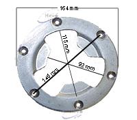 Dom-Treibteller Igelbelag passend für Columbus E 402-406 mm Ø